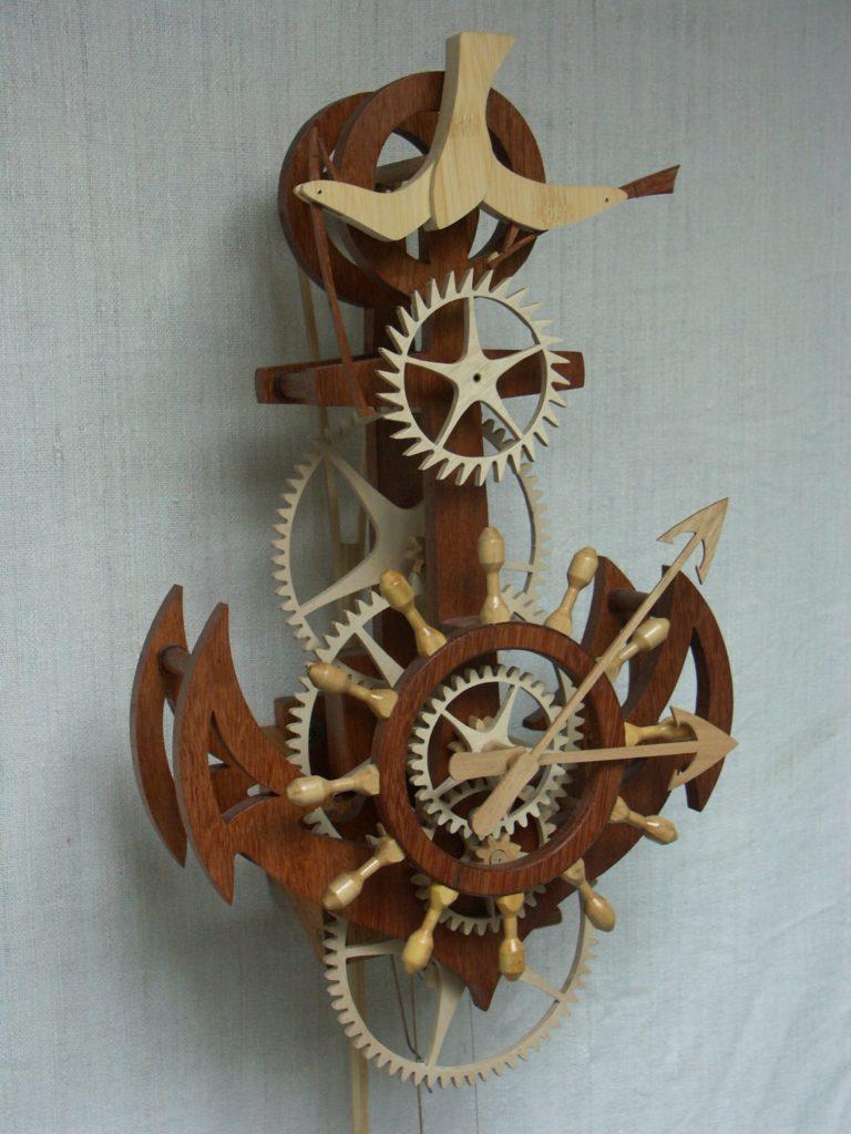 Horloge bois  Wooden clock