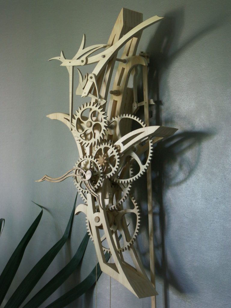horloge bois Bird of Paradise Roland Dutoya