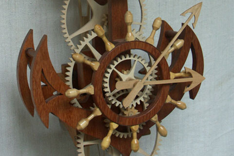 Horloge Marine Bois Roland Dutoya