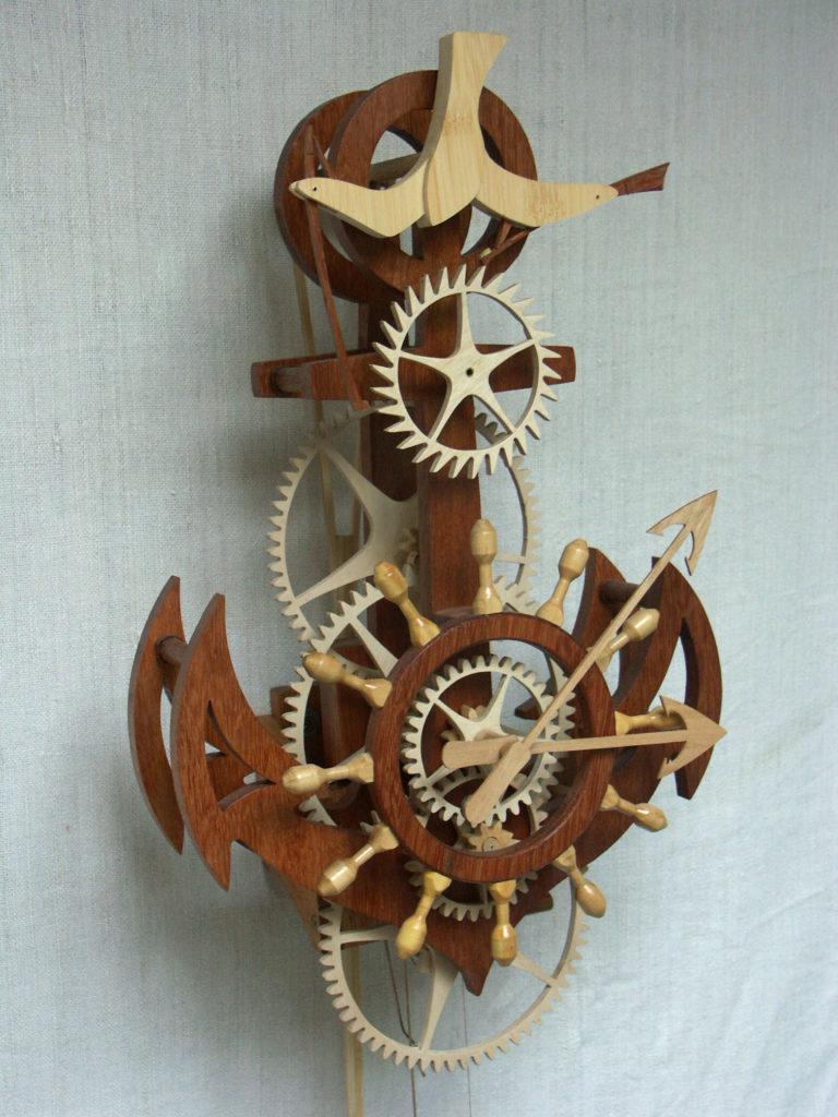 horloge bois marine Roland Dutoya