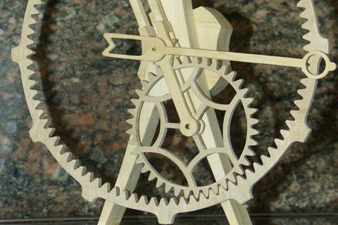 horloge Great wheel par Roland Dutoya artisan horloger