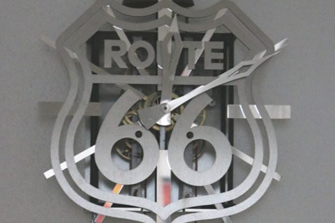 horloge Comtoise Route 66 Roland Dutoya